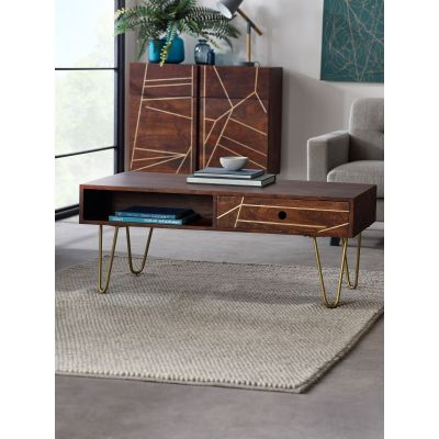 Rectangular Coffee Table Dallas Dark Mango