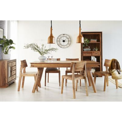 Indus Sheesham Large Dining Set with 6 Chairs