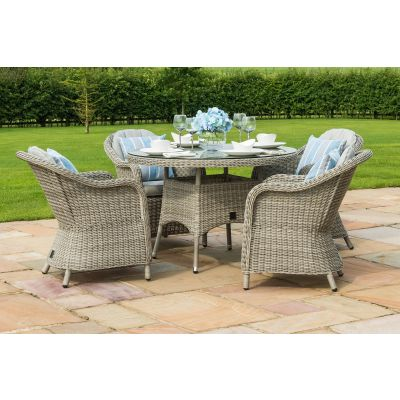 Clinton 4 Seat Round Dining Set with Heritage Chairs