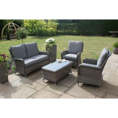 Escape 2 Seat High Back Sofa Set / Grey