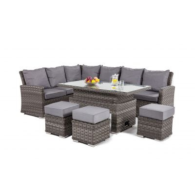 Escape Corner Dining Set with Rising Table