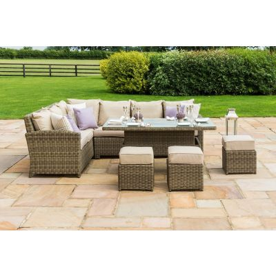 Chicago Kingston Corner Dining Set with Rising Table