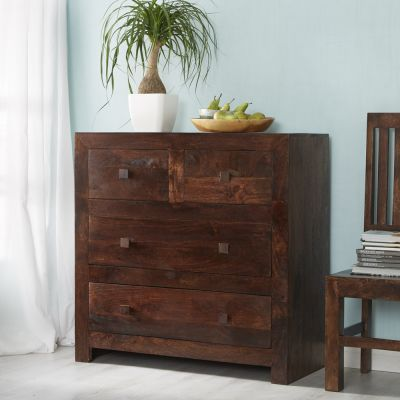 Dakota Mango Dressing Chest 4 Drawers