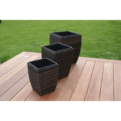 Planters Shaped / Brown