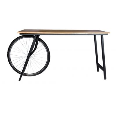 Industrial Creative Wood and Metal Writing Desk